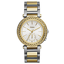 Fossil ladies' two colour round bracelet watch - Product number 2897164