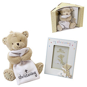 Button Corner My Christening Plush Toy & Photo Frame - Product number 2897210