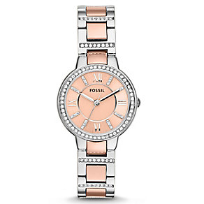 Fossil Ladies' Two Tone Stainless Steel Bracelet Watch - Product number 2901684