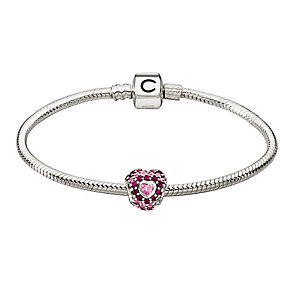 Chamilia Silver Snap Bracelet & Red Swarovski Elements Bead - Product number 2901692