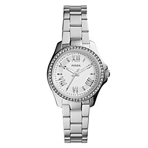 Fossil Ladies' Mini-Cecile Silver Tone Bracelet Watch - Product number 2901714