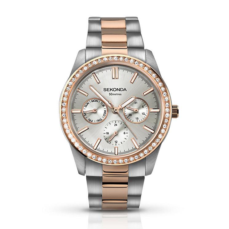 Sekonda Ladies' Two Tone Crystal Set Bracelet Watch - Product number 2901846