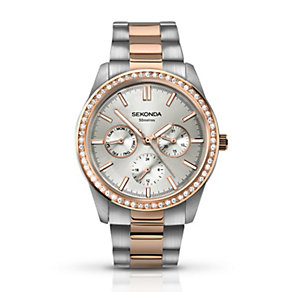 Sekonda Ladies' Two Tone Crystal Set Bracelet Watch - Product number 2901846