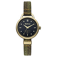 Barbour Finlay ladies' gold-plated denim strap watch - Product number 2901919