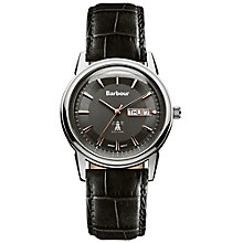 Barbour Gosforth men's black leather strap watch - Product number 2901994