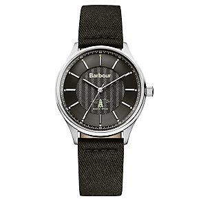 Barbour Glysdale men's stainless steel black strap watch - Product number 2902036