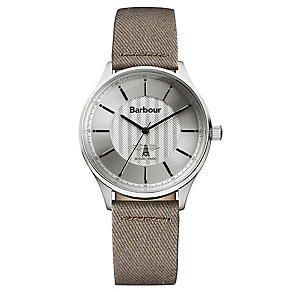 Barbour Glysdale men's stainless steel silver strap watch - Product number 2902044