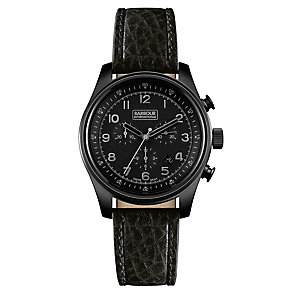 Barbour Byker men's ion plated black strap watch - Product number 2902052