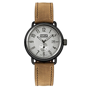 Barbour Fowler men's ion plated black strap watch - Product number 2902079