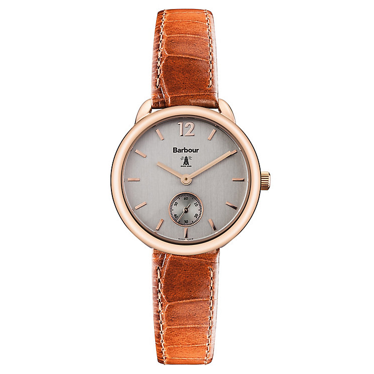 Barbour Whitley ladies' rose gold-plated strap watch - Product number 2902117