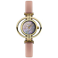 Vivienne Westwood gold-plated oval pink leather strap watch - Product number 2902400