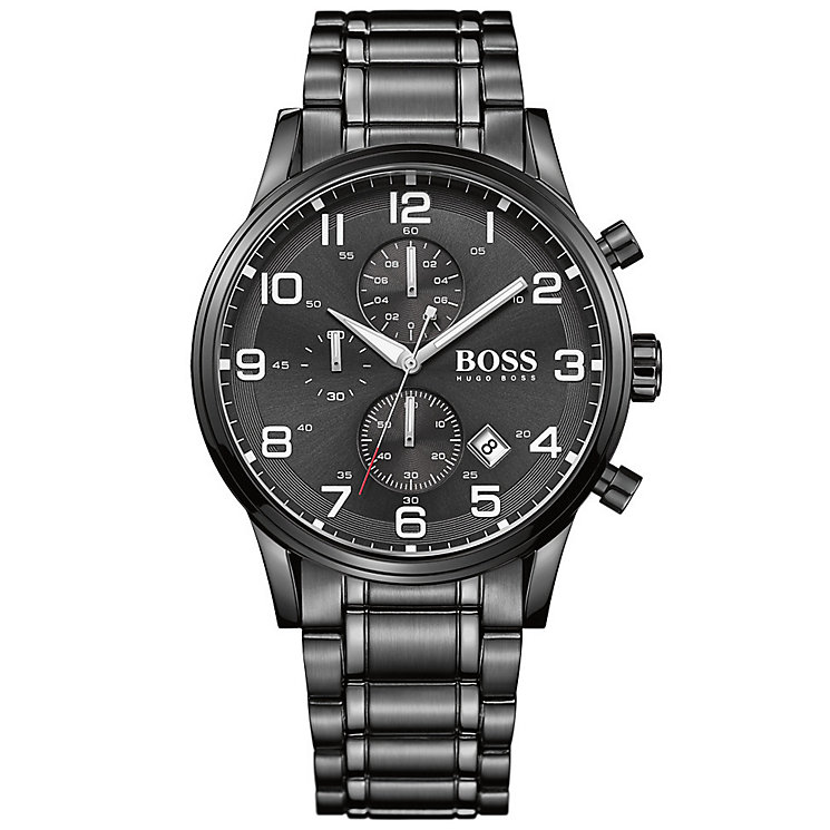 Hugo Boss men's black ion plated bracelet watch - Product number 2902613