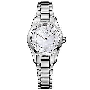 Hugo Boss ladies' mother of pearl steel bracelet watch - Product number 2902982