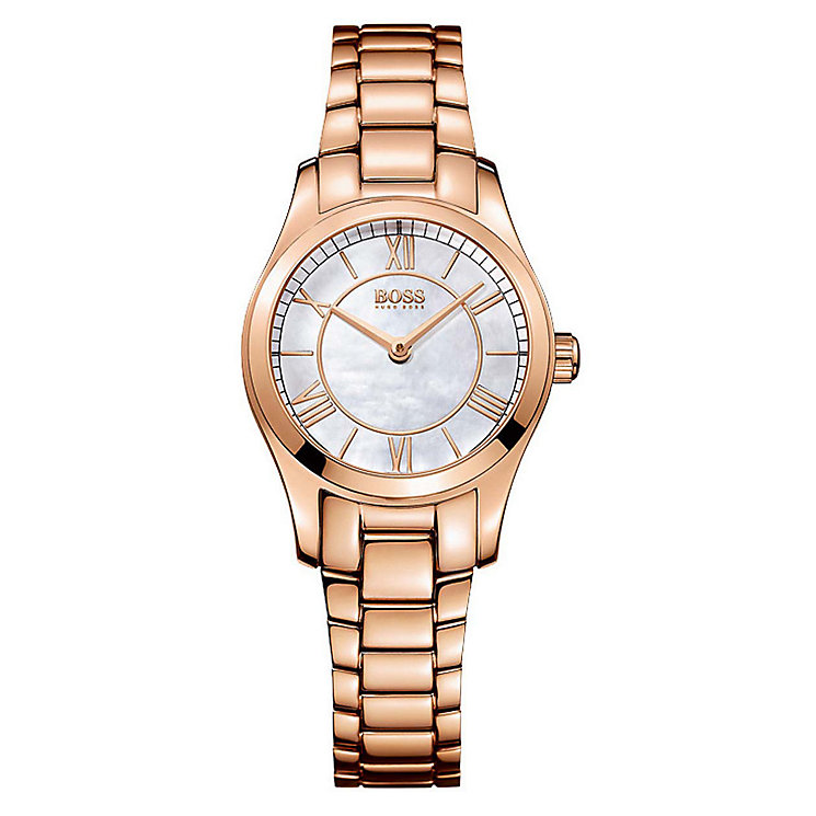 Hugo Boss Ladies' Rose Gold Plated Bracelet Watch - Product number 2903008