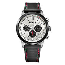 Hugo Boss men's stainless steel black rubber strap watch - Product number 2903059