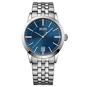 Hugo Boss men's stainless steel blue dial bracelet watch - Product number 2903148