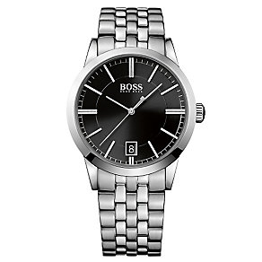 Hugo Boss men's stainless steel black dial bracelet watch - Product number 2903164