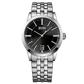 Hugo Boss men's stainless steel black dial bracelet watch - Product number 2903164