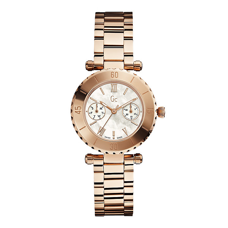 GC Diver ladies' rose gold-plated white bracelet watch - Product number 2904136