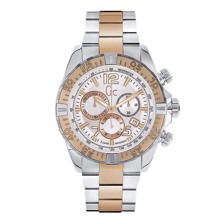 Gc Sport Class Men's Two Colour White Bracelet Watch - Product number 2904144