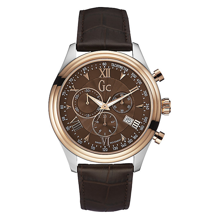 GC Smart Class men's two colour brown strap watch - Product number 2904187