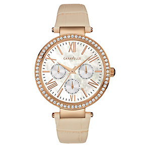 Caravelle New York Ladies' Cream Mother of Pearl Watch - Product number 2905191