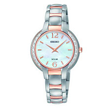 Seiko Ladies' Mother of Pearl Dial Two Tone Bracelet Watch - Product number 2905779
