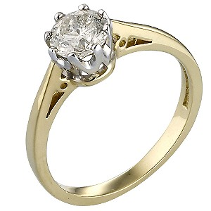 18ct Gold Three Quarter Carat Diamond Solitaire Ring