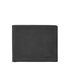Fossil Nova black leather bifold wallet - Product number 2908344