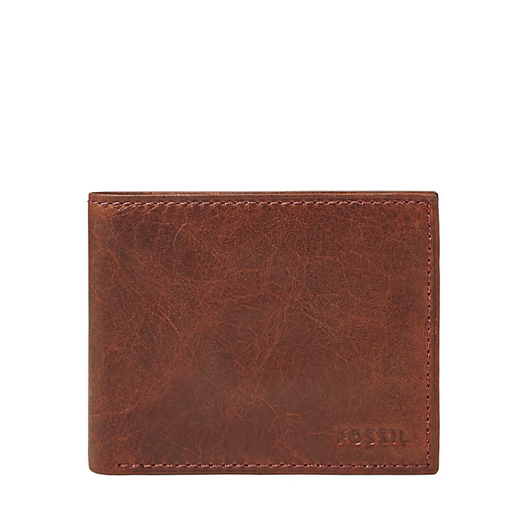 Fossil Ingram wine leather flip ID wallet - Product number 2908883