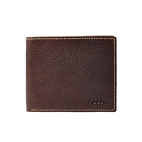 Fossil Lincoln men's brown leather bifold wallet - Product number 2909103