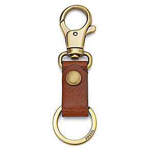 Fossil Evan dark brown leather key fob - Product number 2909189
