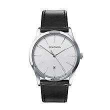 Sekonda Men's Round Dial & Black Leather Strap Watch - Product number 2911310