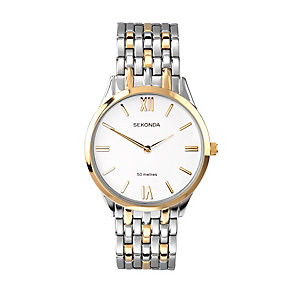 Sekonda Men's Two Tone Link Bracelet Watch - Product number 2911337