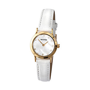 Sekonda Ladies' Mother of Pearl & White Leather Watch - Product number 2911345