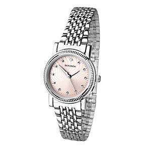 Sekonda Ladies' Stainless Steel & Pink Mother of Pearl Watch - Product number 2911353