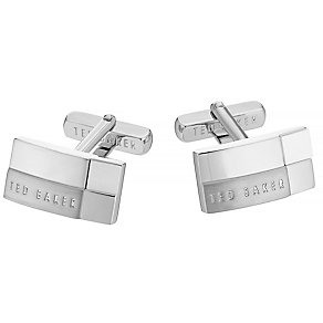 Ted Baker stainless steel white stepped cufflinks - Product number 2916762