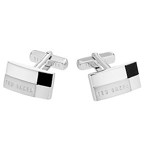 Ted Baker stainless steel black stepped cufflinks - Product number 2916770