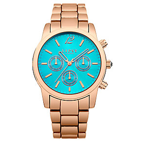 Lipsy Ladies' Turquoise Blue Dial & Rose Gold Tone Watch - Product number 2917246