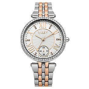 Lipsy Ladies' Crystal Set Two Tone Bracelet Watch - Product number 2917254