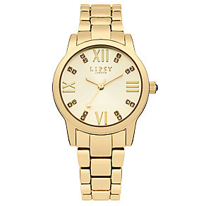 Lipsy Ladies' Crystal Set Yellow Gold Tone Bracelet Watch - Product number 2917297