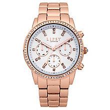 Lipsy Ladies' Crystal Set Rose Gold Tone Bracelet Watch - Product number 2917319