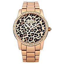Lipsy Ladies' Leopard Print & Rose Gold Tone Bracelet Watch - Product number 2917327