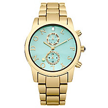 Lipsy Ladies' Mint Green Dial & Yellow Gold Tone Watch - Product number 2917580