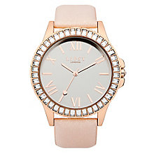 Lipsy Ladies' Stone Set Pink Blush Leather Look Strap Watch - Product number 2917629