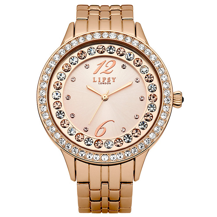 Lipsy Ladies' Stone Set Rose Gold Tone Bracelet Watch - Product number 2917718