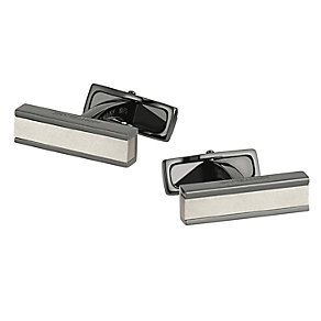 Montblanc black stainless steel brushed inlay cufflinks - Product number 2918285