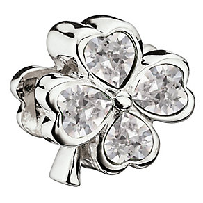 Chamilia Sterling Silver Swarovski Crystal Lucky Clover Bead - Product number 2920107
