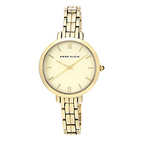 Anne Klein Ladies' Gold Tone Dial Gold-Plated Bracelet Watch - Product number 2920158