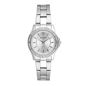 Accurist Ladies' Stone Set Stainless Steel Bracelet Watch - Product number 2920166